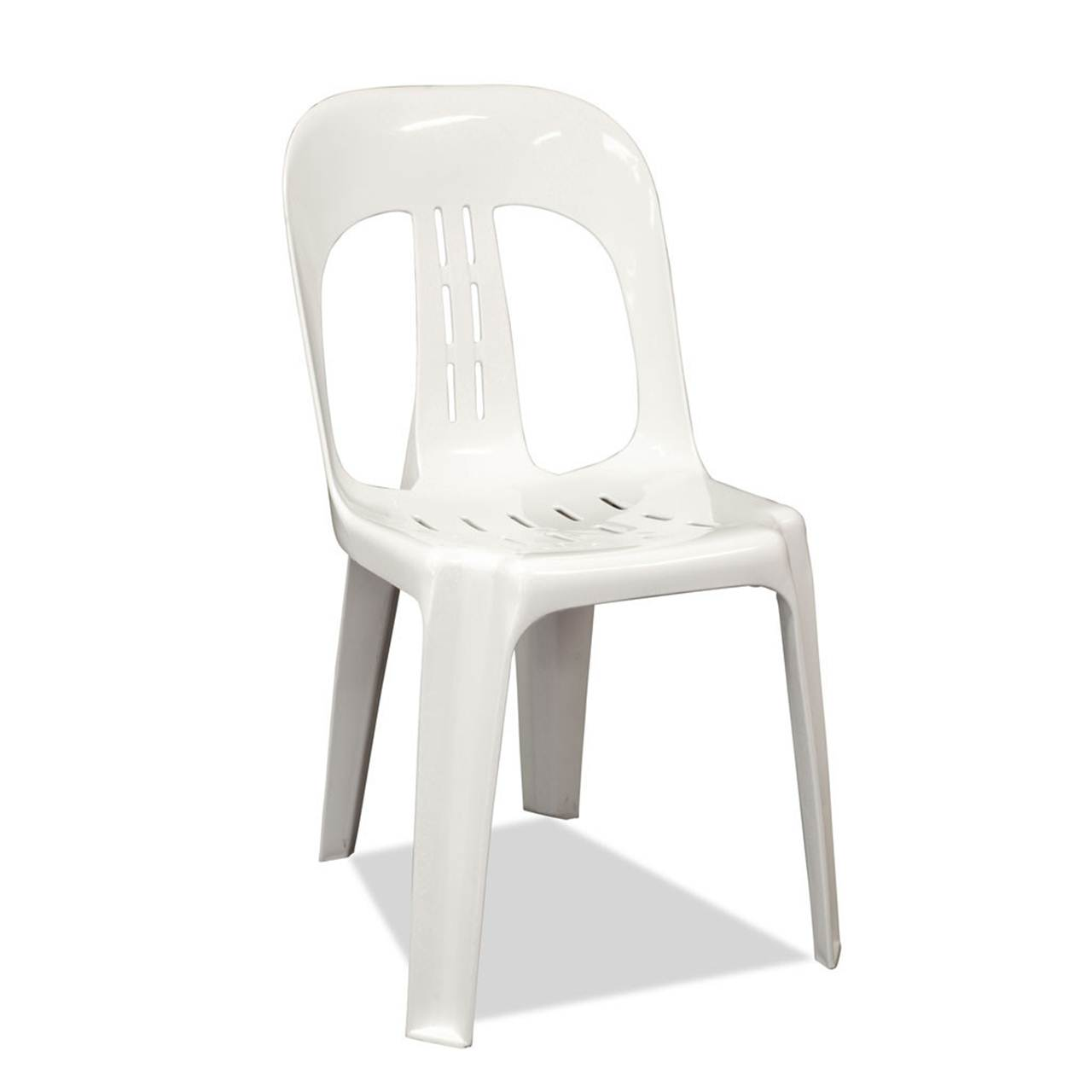 White plastic stacking chair mr party hire - White resin stacking chairs ...