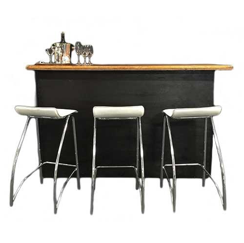 Black 2.4m (8′) Portable Bar